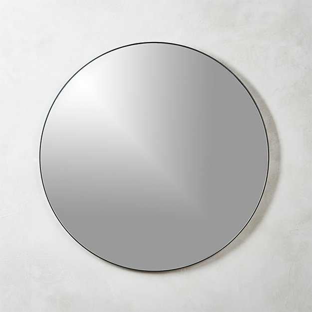"Infinity Black Round Wall Mirror 36"" - Image 1 of 10"