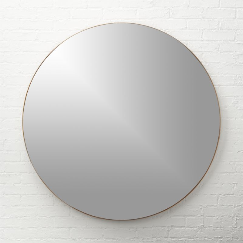 Infinity Brass Round Wall Mirror 48