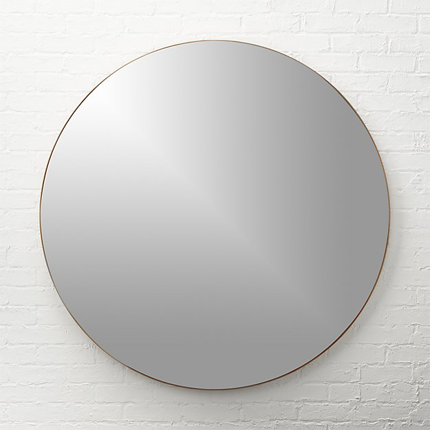 "Infinity Copper Round Wall Mirror 48"" - Image 1 of 12"