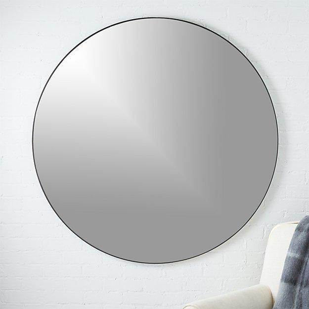 "Infinity Round Black Mirror 48"" - Image 1 of 5"