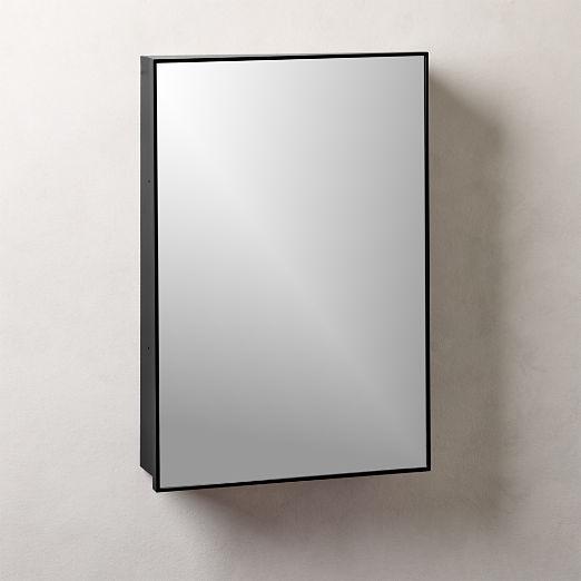 "Infinity Black Medicine Cabinet 18""x27"""