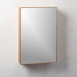 Infinity Brass Small Recessed Medicine Wall Cabinet ...