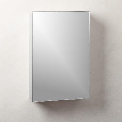 "Infinity Silver Medicine Cabinet 18""x27"""