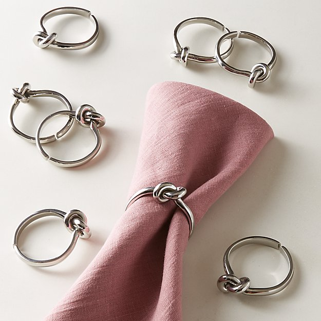 Infinity Silver Napkin Rings Set of 8 - Image 1 of 2