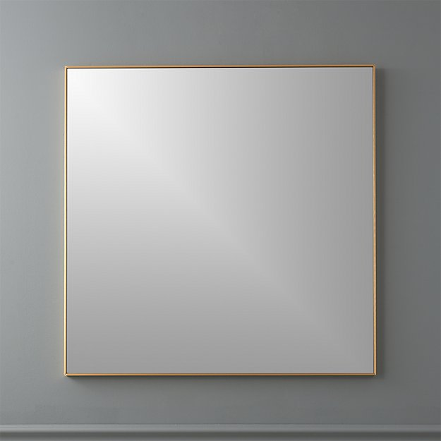 "Infinity Brass 31"" Square Wall Mirror - Image 1 of 5"