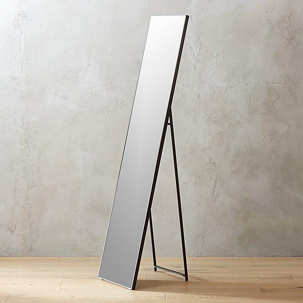 "Infinity Black Standing Mirror 16""x69"" - Image 1 of 4"