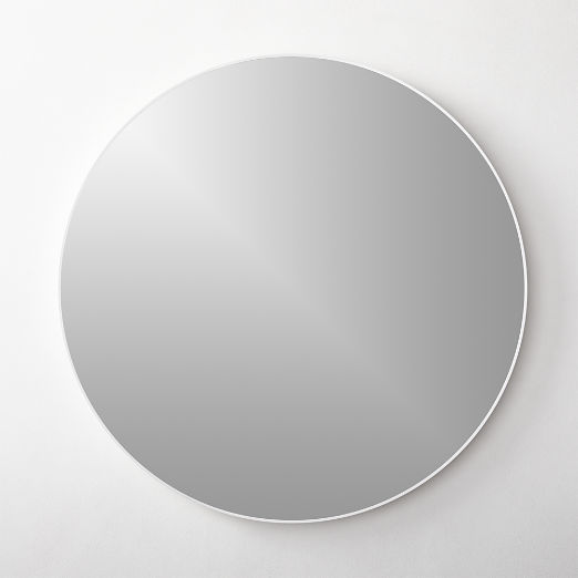 "Infinity Round White Mirror 24"""