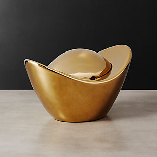 Ingot Gold Candy Dish
