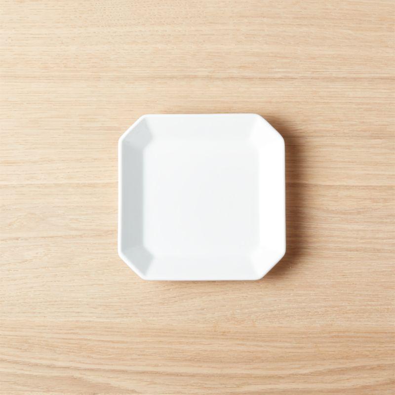Intermix White Square Appetizer Plate & Square Plates | CB2