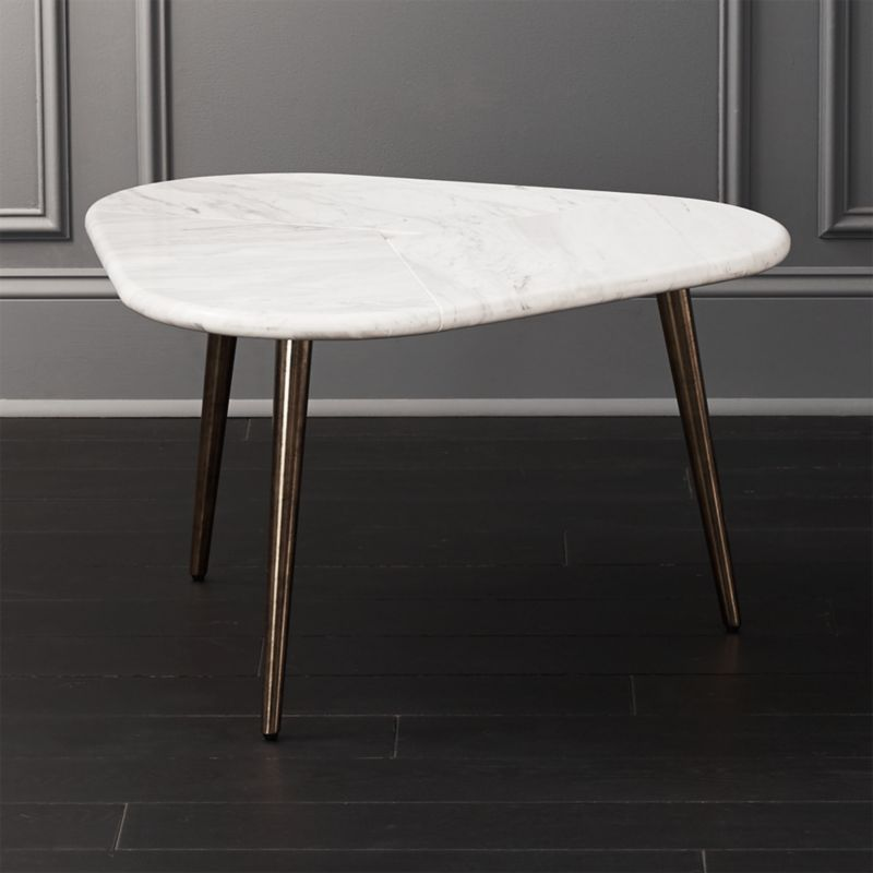 Intertwine Triangle Marble Coffee Table