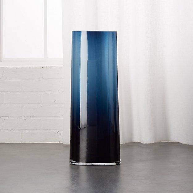 Ionia Tall Blue Glass Vase Reviews Cb2