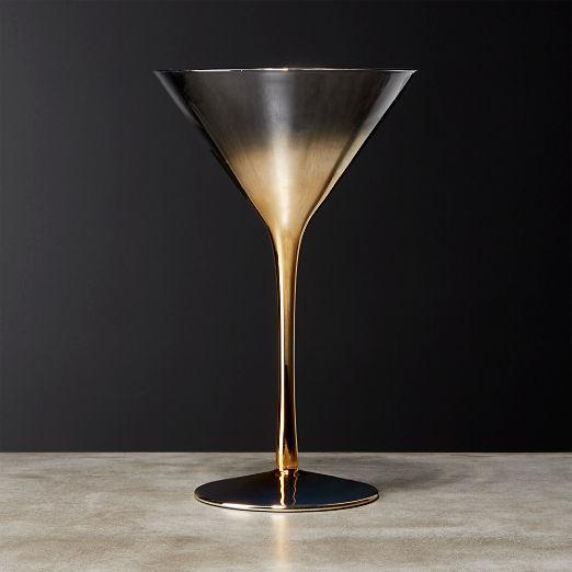 Irina Gold Martini Glass