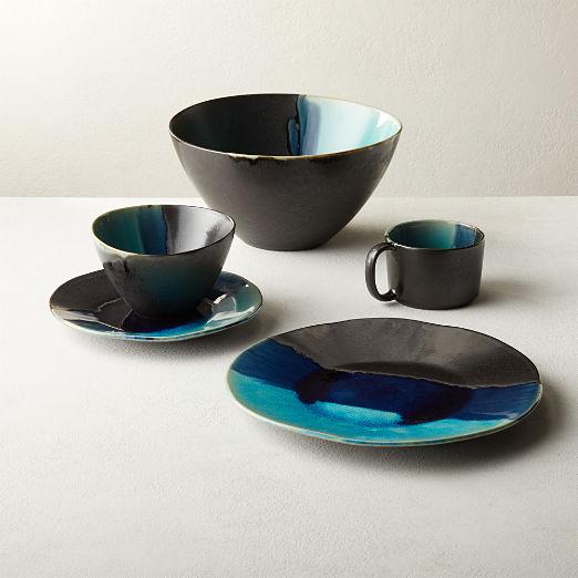 Iris Teal Dinnerware