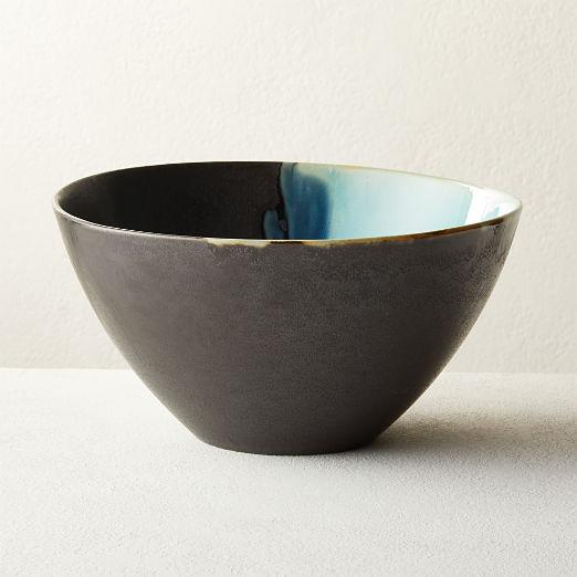 Iris Teal Serving Bowl