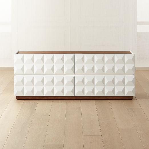 Issa Hi-Gloss White Low Dresser