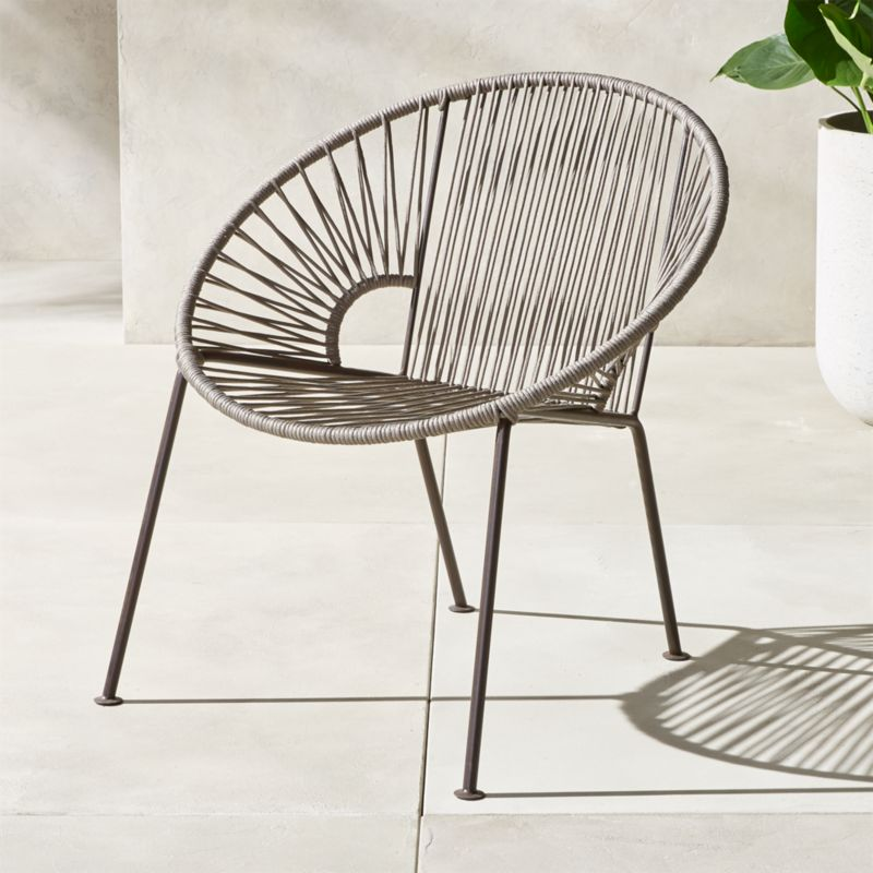 Charmant Ixtapa Grey Lounge Chair