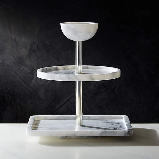 Marble Serving Tray Reviews Cb2