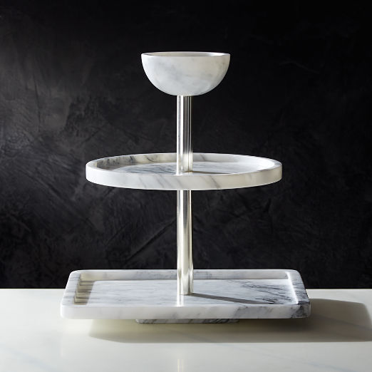 3-Tier Marble Party Tower
