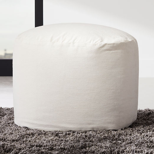 Anywhere Ivory Pouf