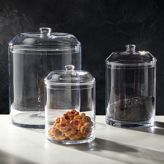 Snack Glass Canisters