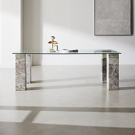 Triple Dining Table With Rectangle Top Reviews Cb2 Canada
