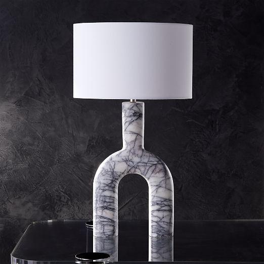 Tubular Marble Table Lamp
