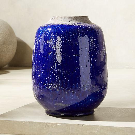 Jacque Blue Glazed Vase