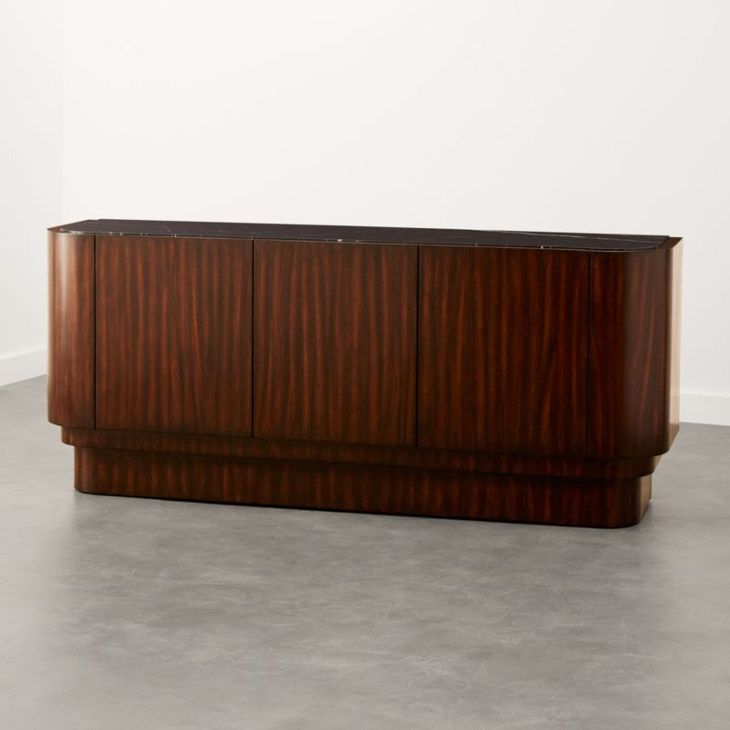 Jacques Marble And Wood Media Console