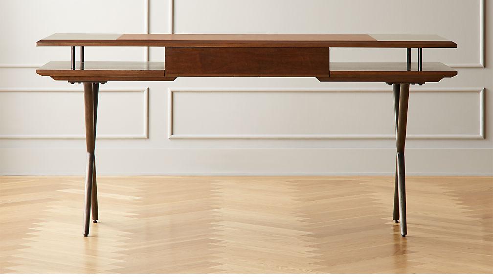 Jaxon Wood and Leather Desk - Image 1 of 9