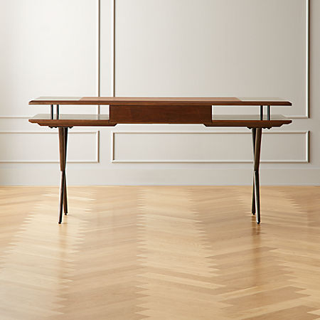 Pleasant Jaxon Wood And Leather Desk Cb2 Gmtry Best Dining Table And Chair Ideas Images Gmtryco