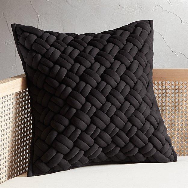 "20"" Jersey Black Interknit Pillow - Image 1 of 5"