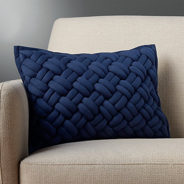 18 Quot X12 Quot Jersey Interknit Navy Pillow With Down Alternative