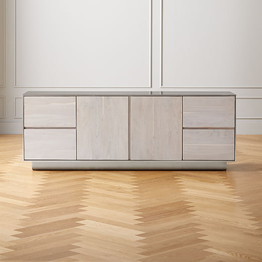 Jett Wood and Metal Media Credenza