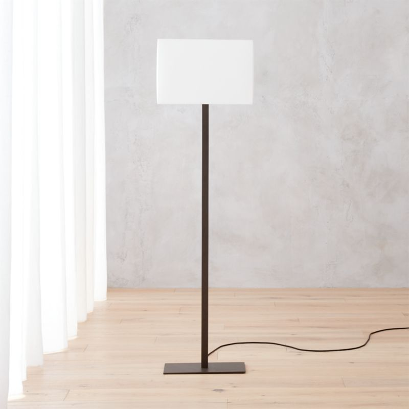 Steel floor lamps cb2 aloadofball Image collections