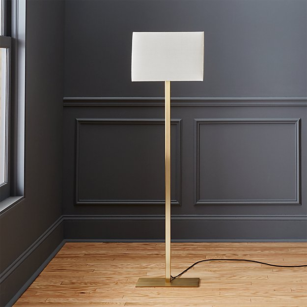 John metallic bronze floor lamp reviews cb2 aloadofball Gallery
