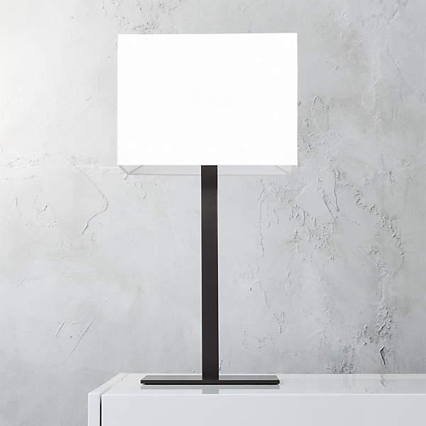 John Rectangular Table Lamp Reviews Cb2, Black Square Base Table Lamp
