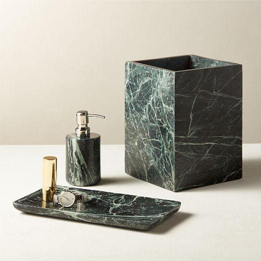 Jules Green Marble Bath Accessories