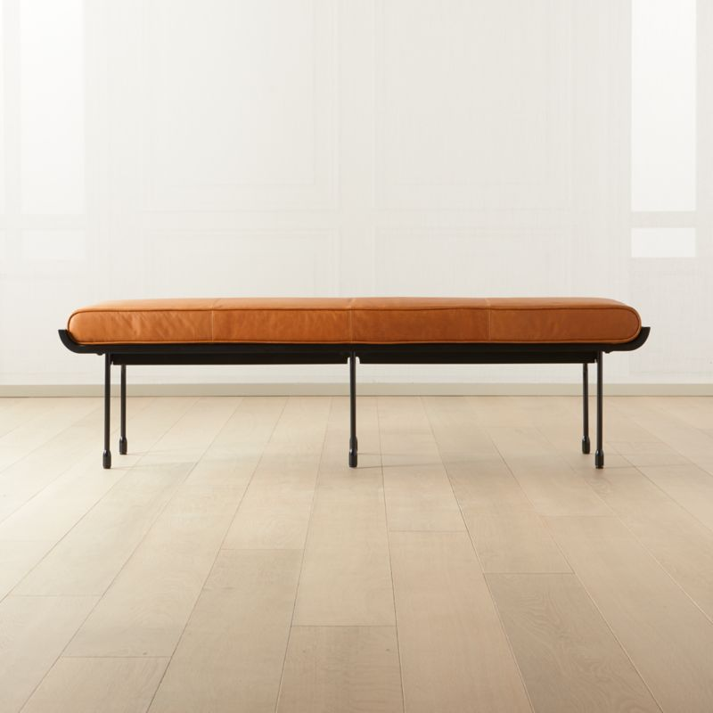 Juneau Leather And Metal Bench Reviews Cb2
