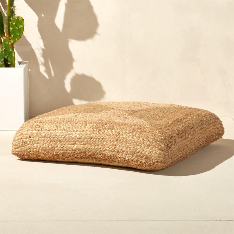 Braided Jute Floor Cushion Reviews Cb2