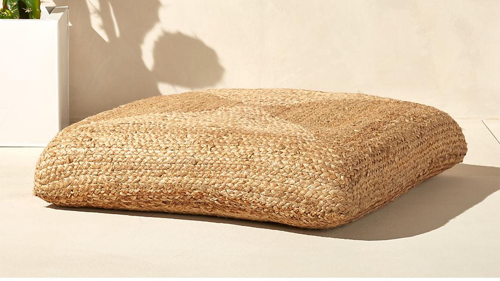 Braided Jute Floor Cushion - Image 1 of 11