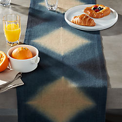 Jute Tie Dye Table Runner