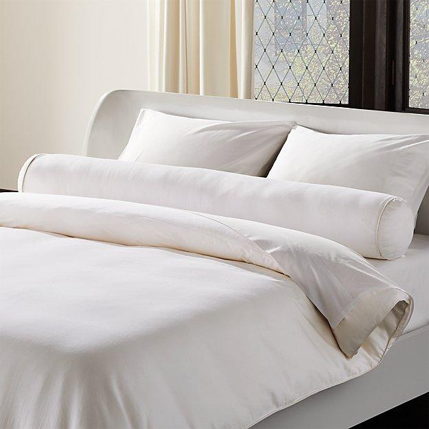 Bridge Cotton Sateen Bolster Pillow - Image 1 of 4