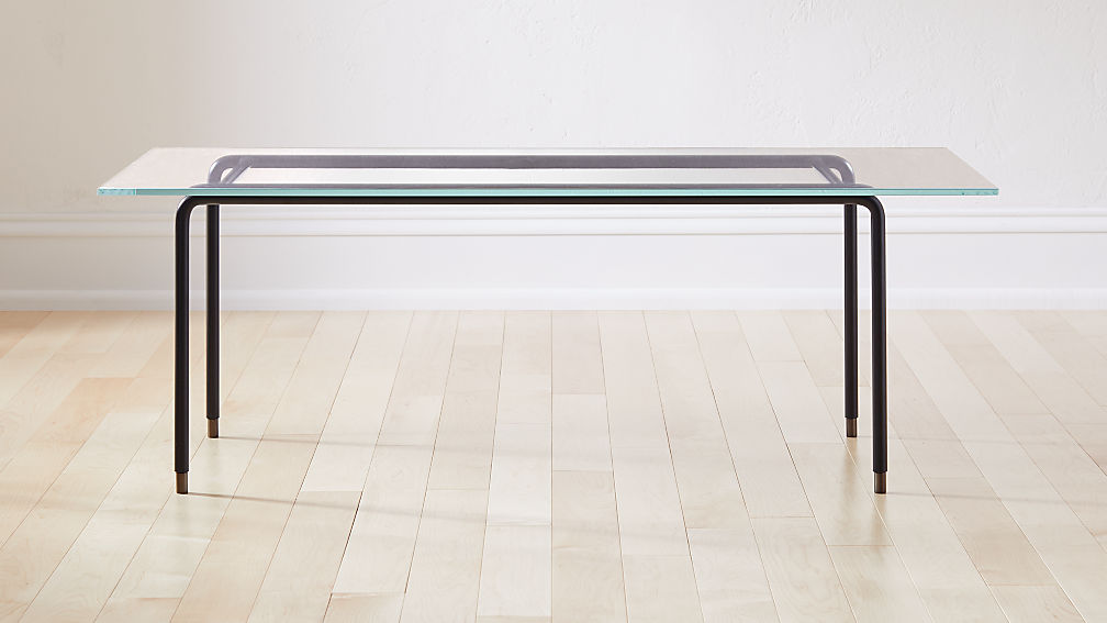 Cane Glass Coffee Table - Image 1 of 5