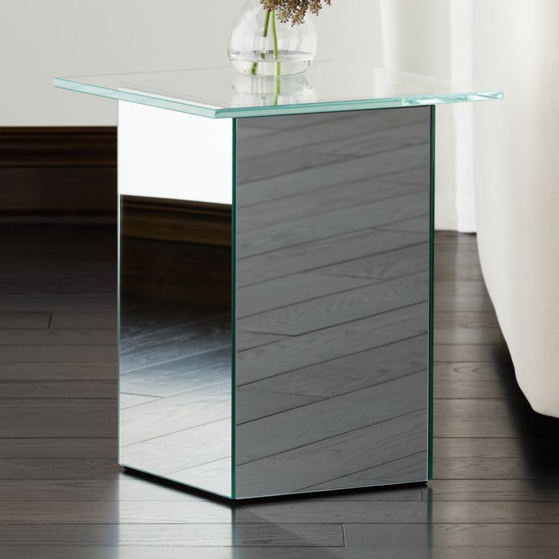 Muse Mirror Side Table Reviews Cb2, How To Mirror A Table