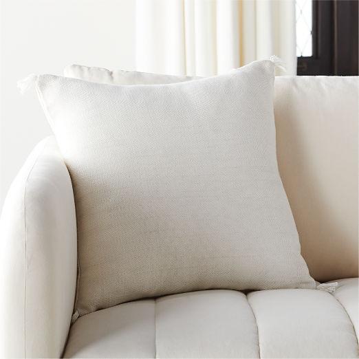 """18"""" Plait Ivory Pillow"""