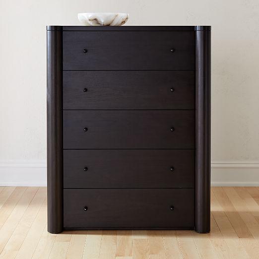 Port Blackened Wood Tall Dresser