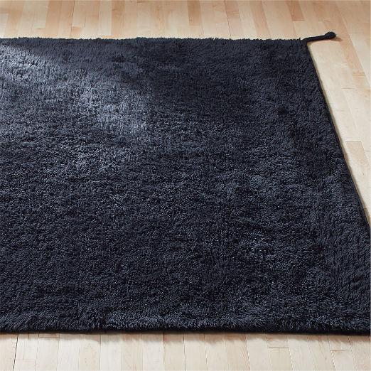 Ravel New Zealand Wool Shag Black Rug