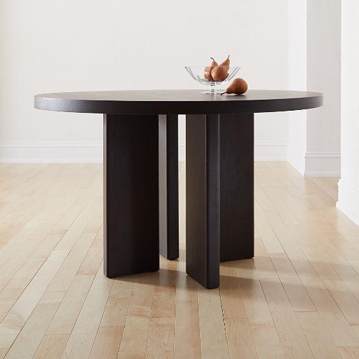 Shadow Blackened Wood Dining Table