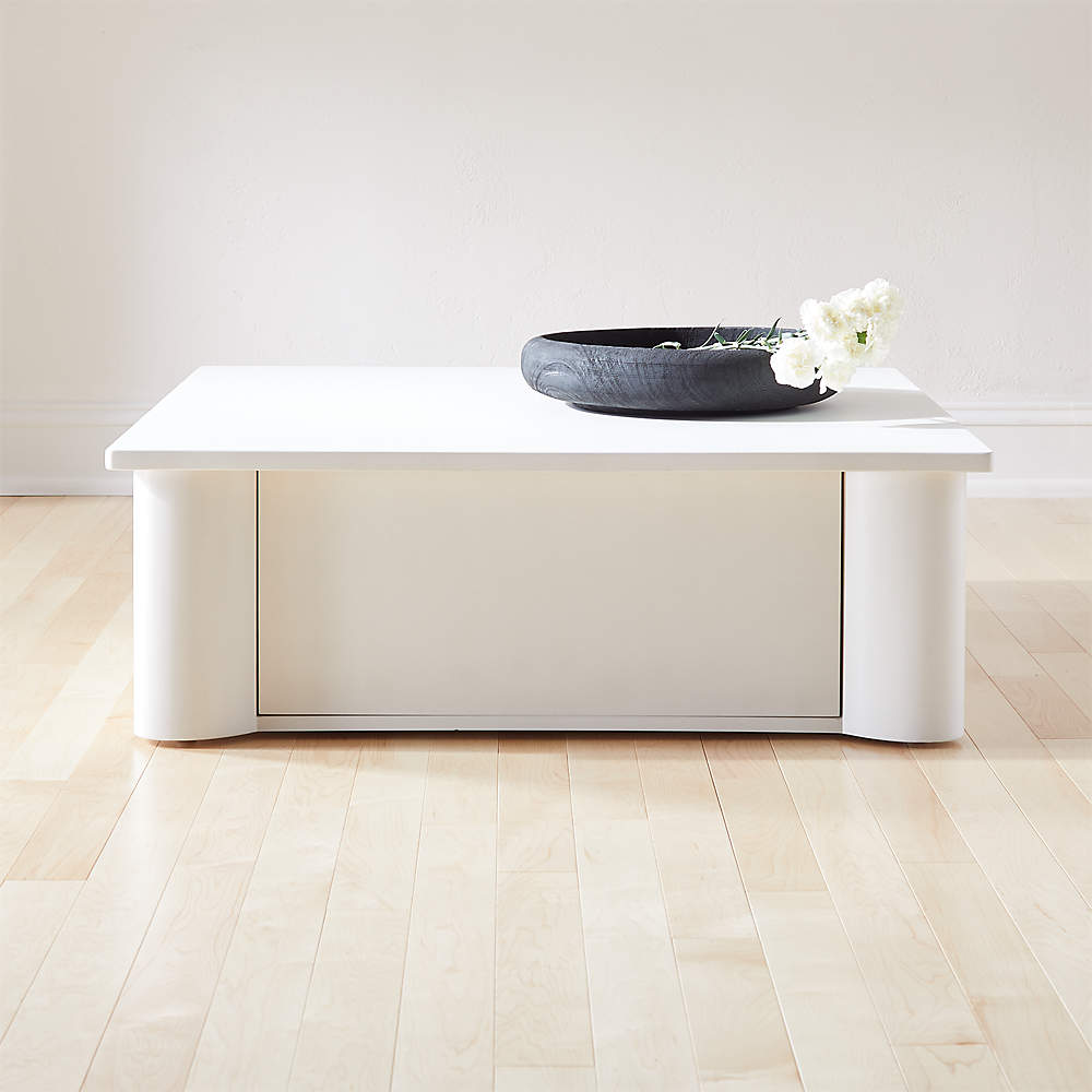 Trunk Concrete Storage Coffee Table Cb2