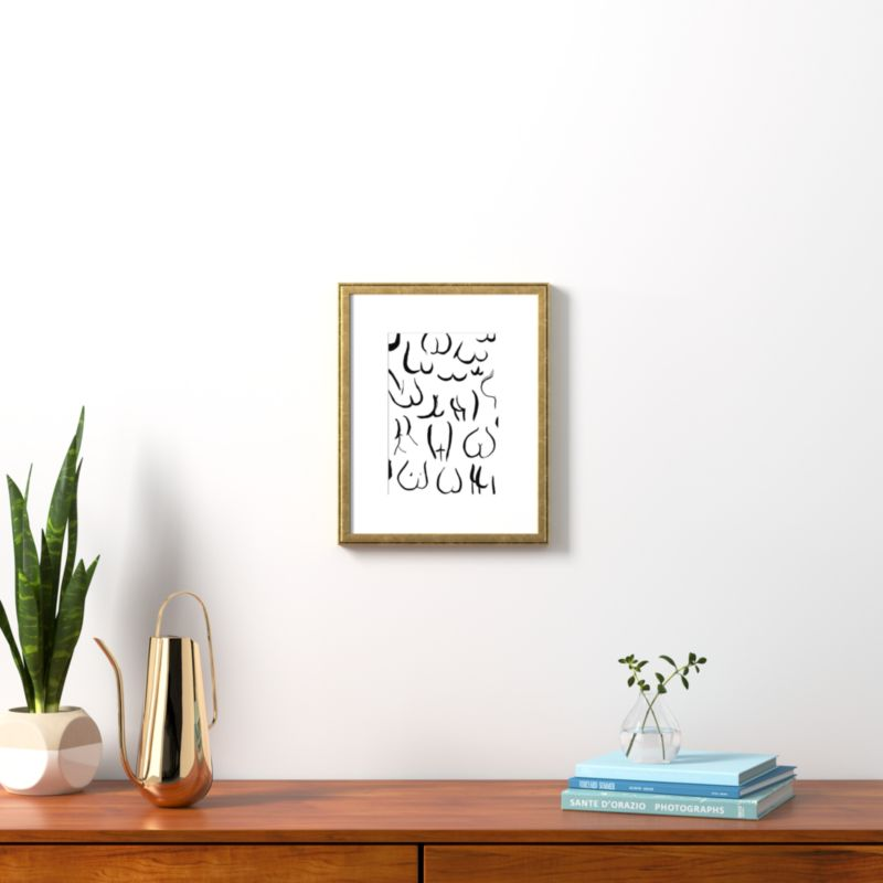 Black and Gold Picture Frames | CB2